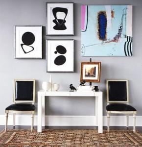 Art hung in hallway