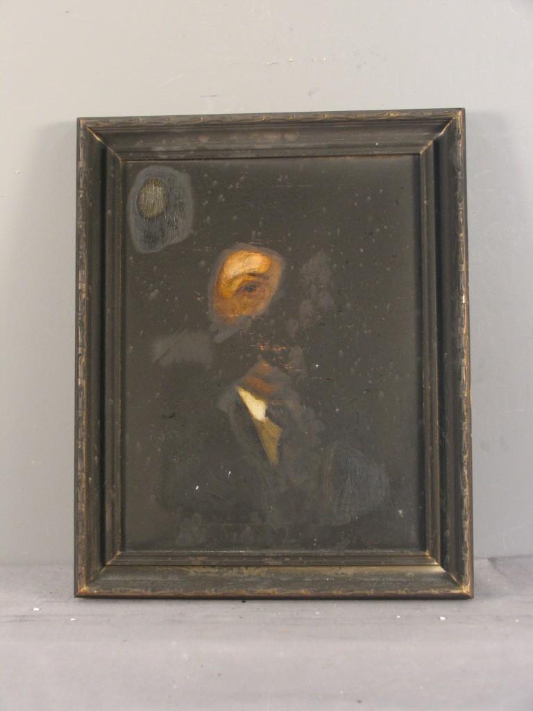 Damaged painting