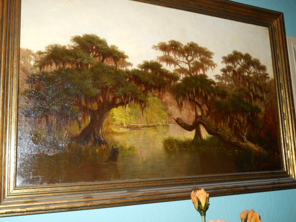 William S Buck bayou painting